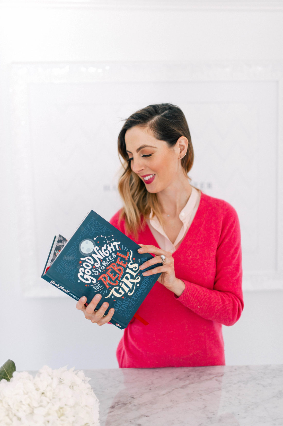 Eva Amurri Martino reads through the Goodnight Stories For Rebel girls book