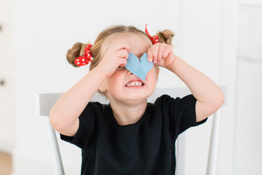 Eva Amurri Martino shares a DIY for how to create fun Valentine's Day cards using cutout hearts