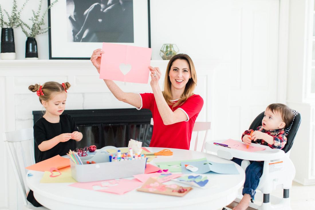 Eva Amurri Martino cuts paper hearts out for Valentine's Day cards