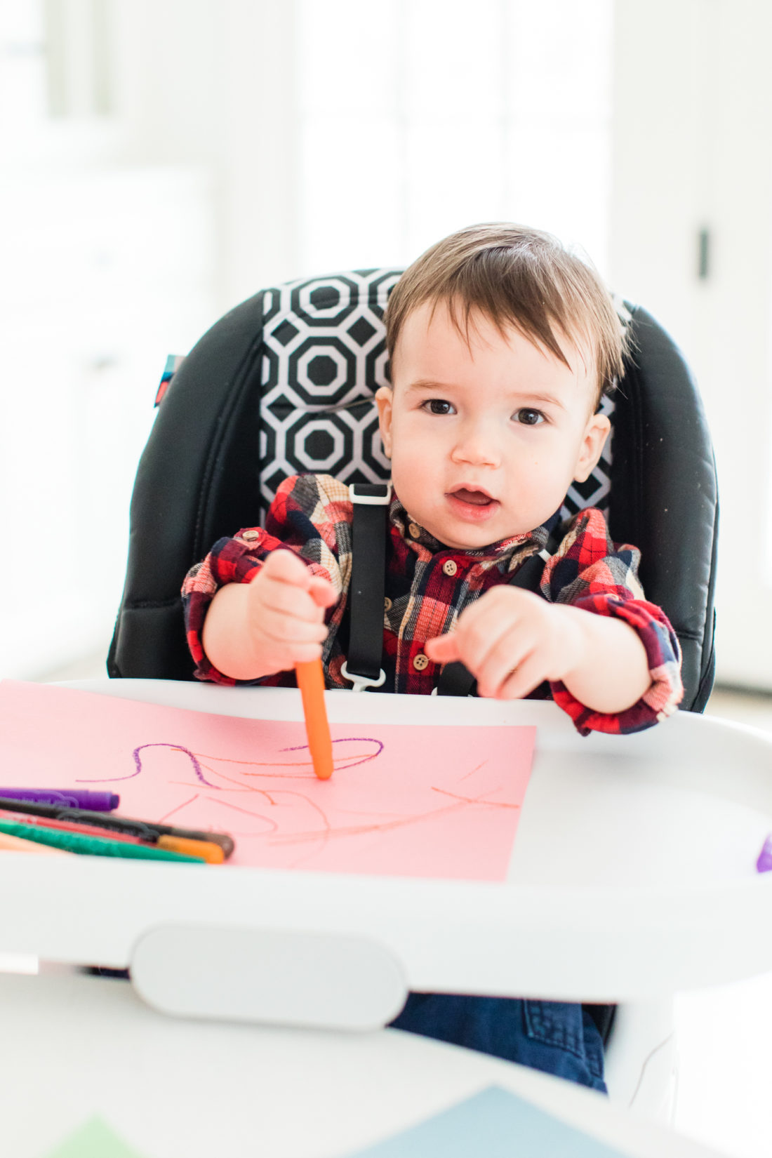 Major Martino crafts homemade Valentine's Day cards with his Mom and sister