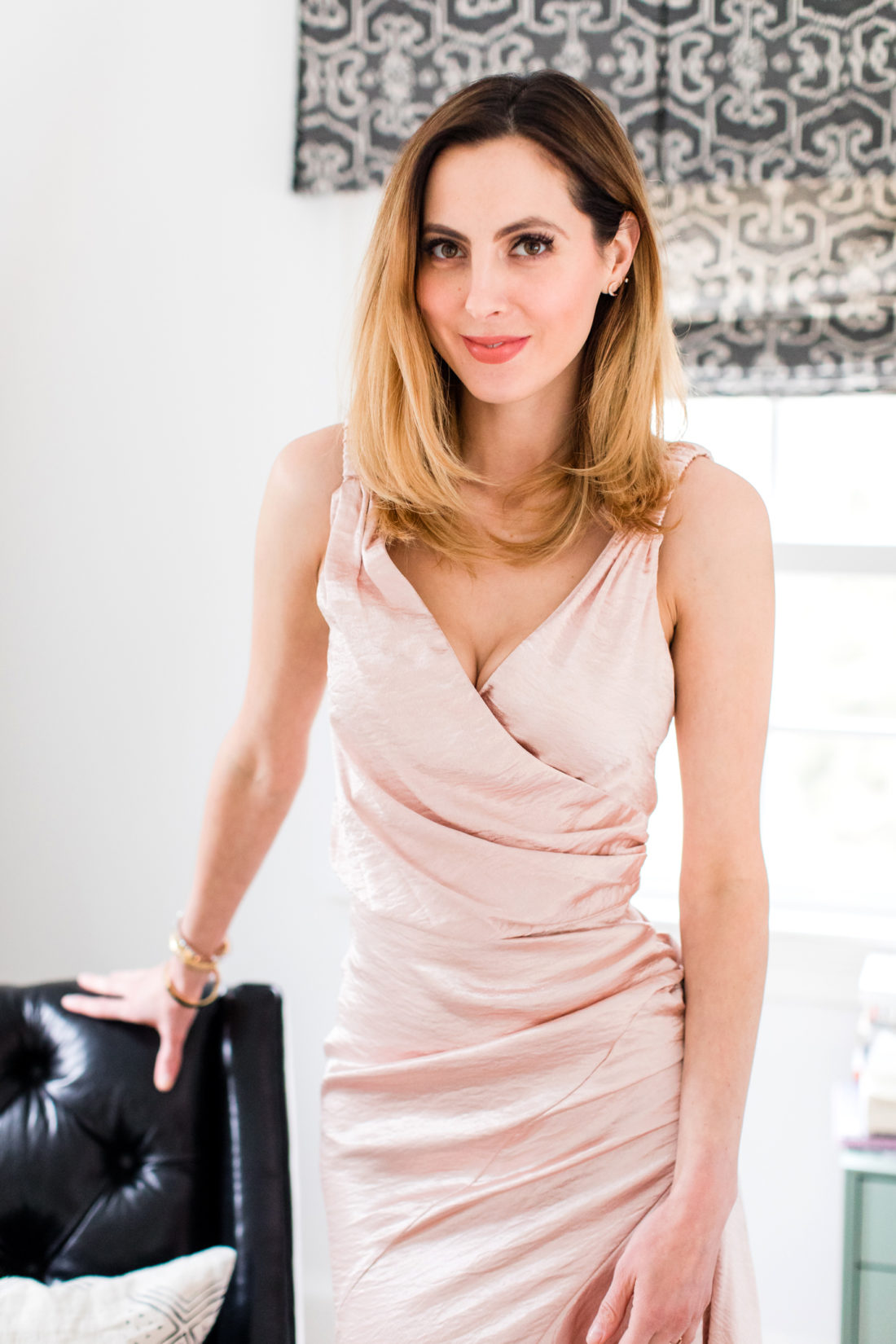bc3b1b1b62 Eva Amurri Martino wears a silk romantic dress for Date NIght