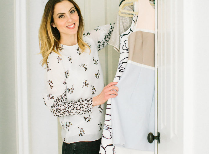 Eva Amurri Martino organizes her closet and puts pieces away according to color, type, and style