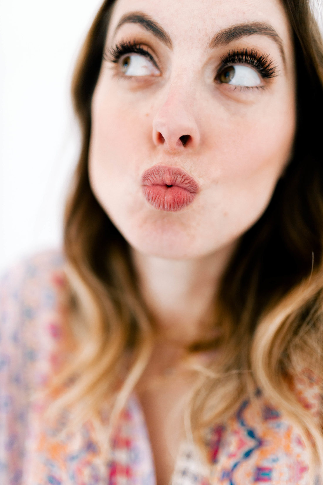 Eva Amurri Martino shows her dry lips before applying a rose moisturizing lip mask