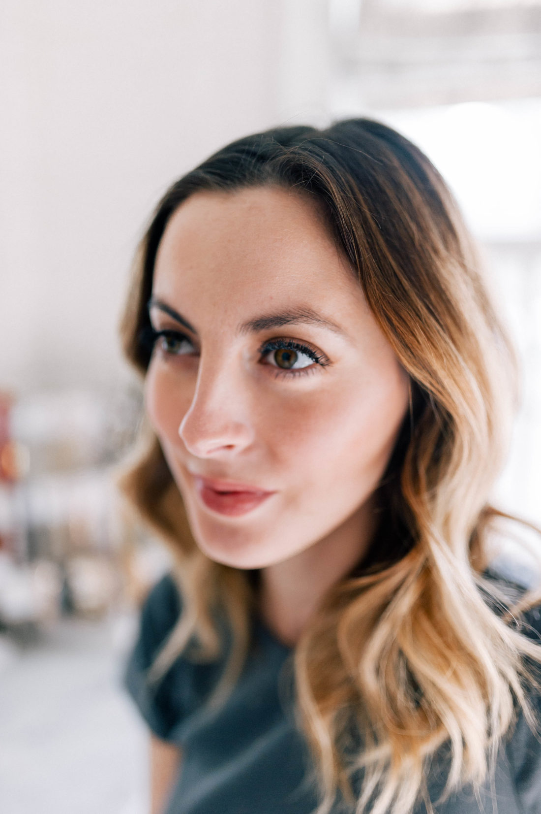 Eva Amurri Martino shows her thicker, tinted brows before makeup application