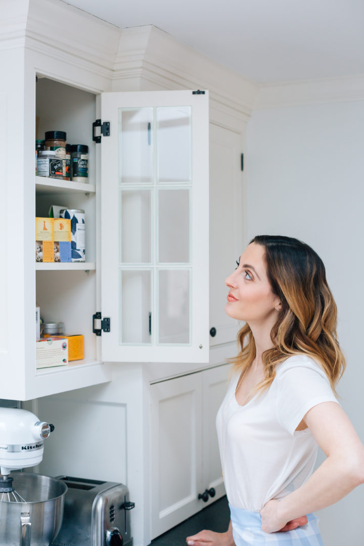 Eva Amurri Martino labels her kitchen shelves using her PTouch Label Maker