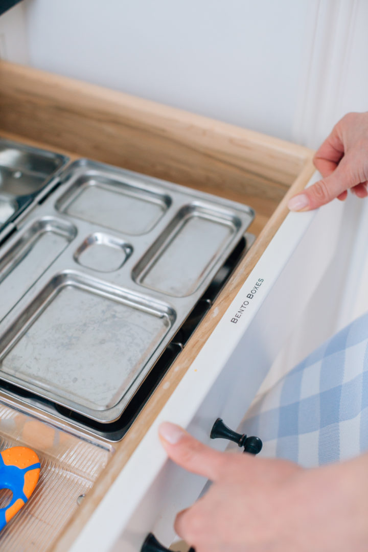 Eva Amurri Martino labels her kitchen drawers using her PTouch Label Maker