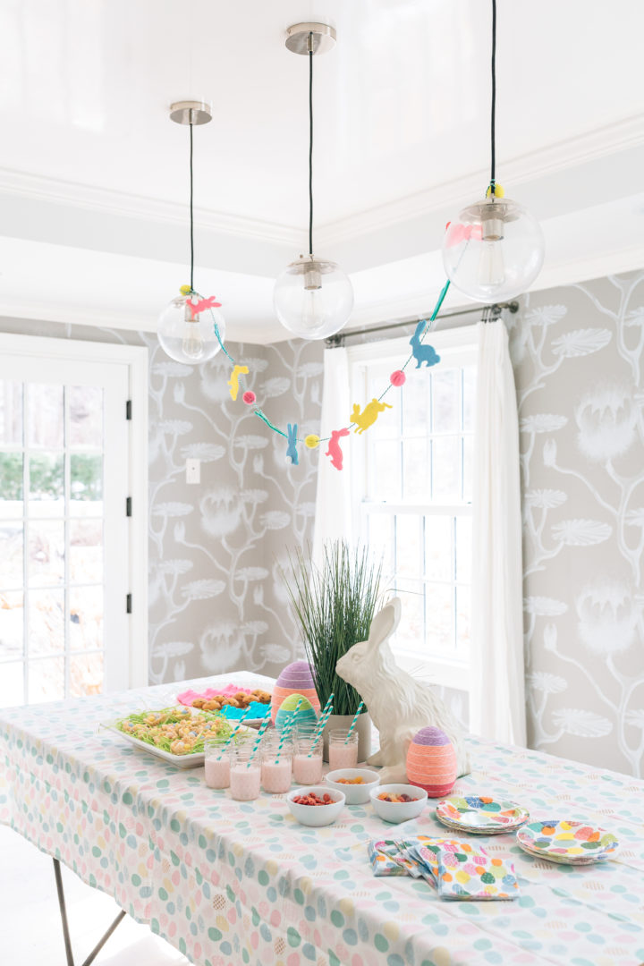 The Easter decorations at Eva Amurri Martino's annual Easter Egg Hunt at her home in Connecticut.