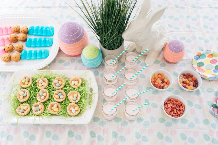 Colorful easter treats on the table at Eva Amurri Martino's annual Easter Egg Hunt at her Connecticut home