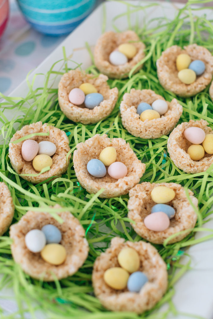 Eva Amurri Martino's Sweet Easter Nests, featuring rice krispie treats and cadbury mini eggs