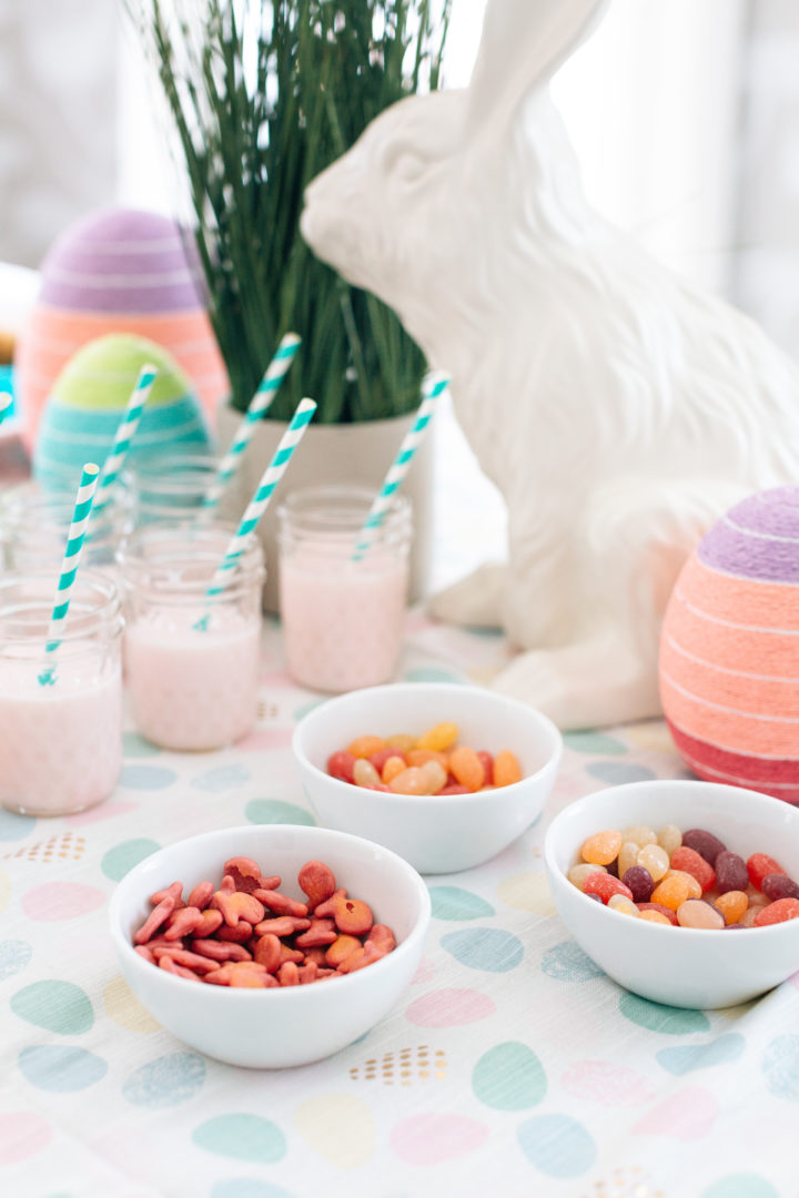Colorful easter treats on the table at Eva Amurri Martino's Connecticut home