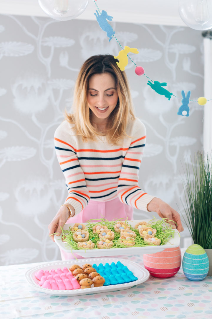 Eva Amurri Martino carries her Sweet Easter Nests at her Easter Egg Hunt