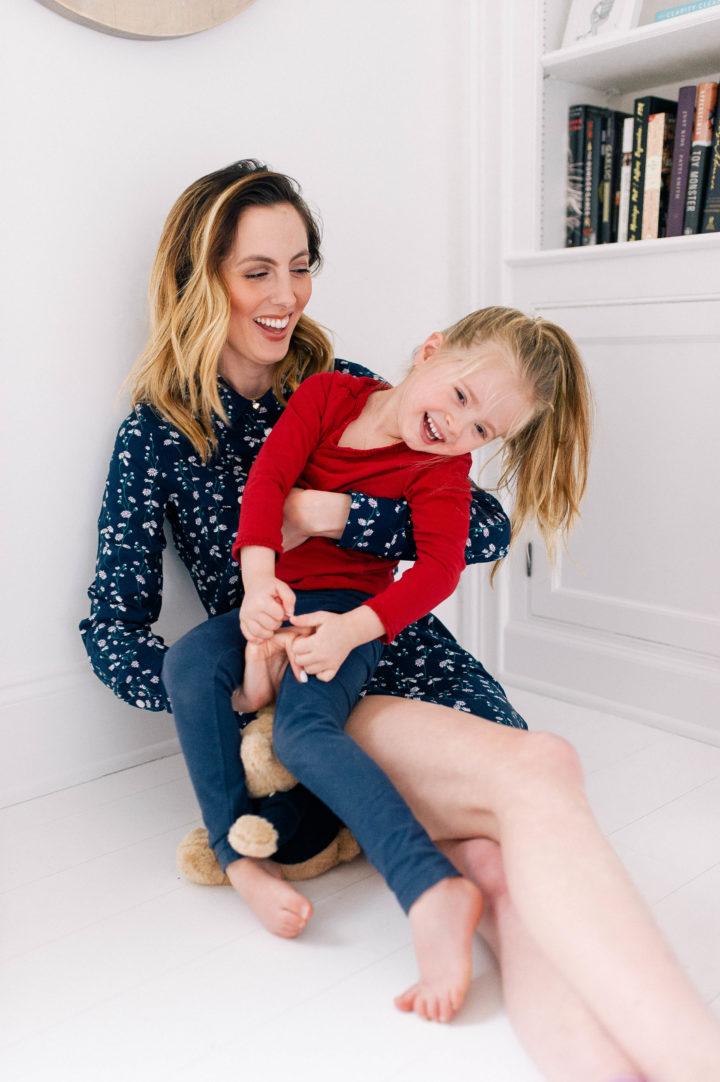 Eva Amurri Martino laughing with her daughter Marlowe