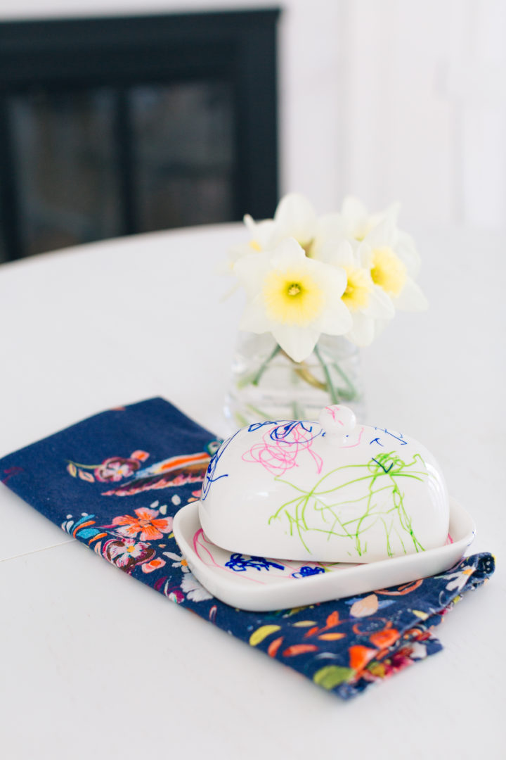 Eva Amurri Martino shows how to decorate a custom butter dish for Mother's Day