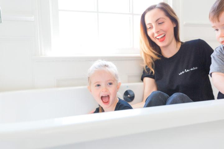 Eva Amurri Martino jokes around with her daughter Marlowe in a bathtub