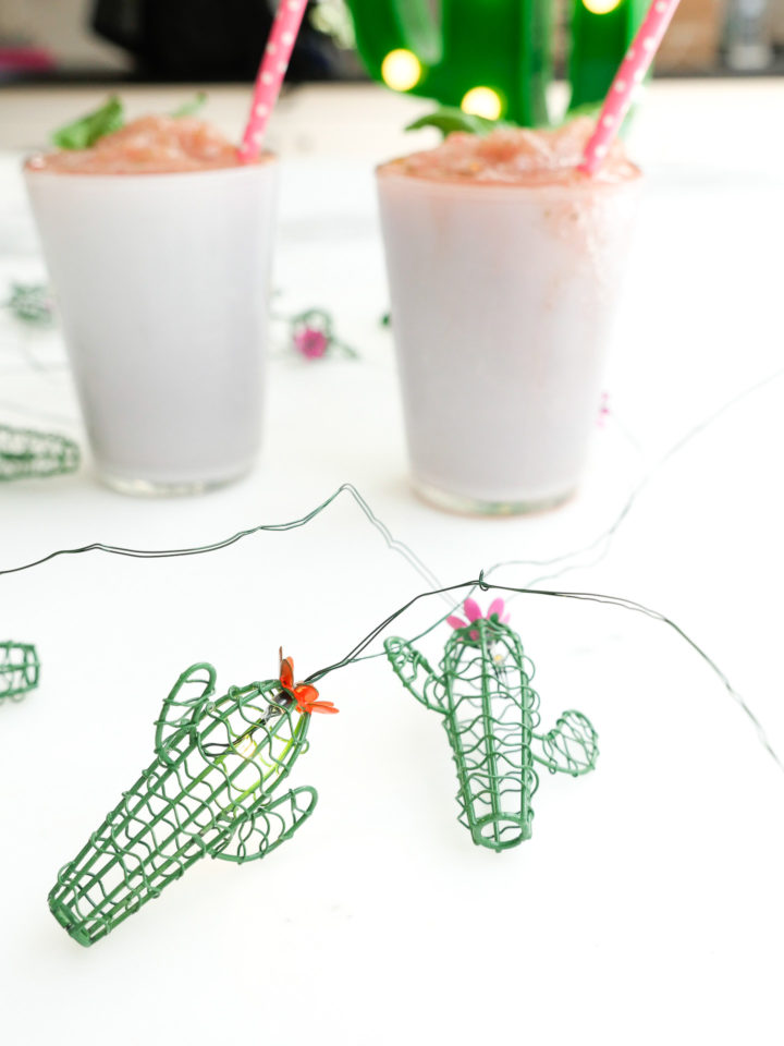 Eva Amurri Martino shares her recipe for frozen strawberry basil margaritas