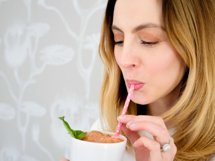 Eva Amurri Martino sips a frozen strawberry basil margarita