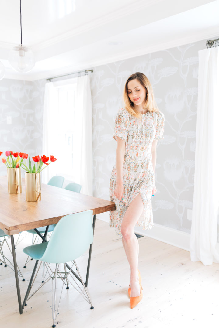 Eva Amurri Martino wears a vintage-inspired dress