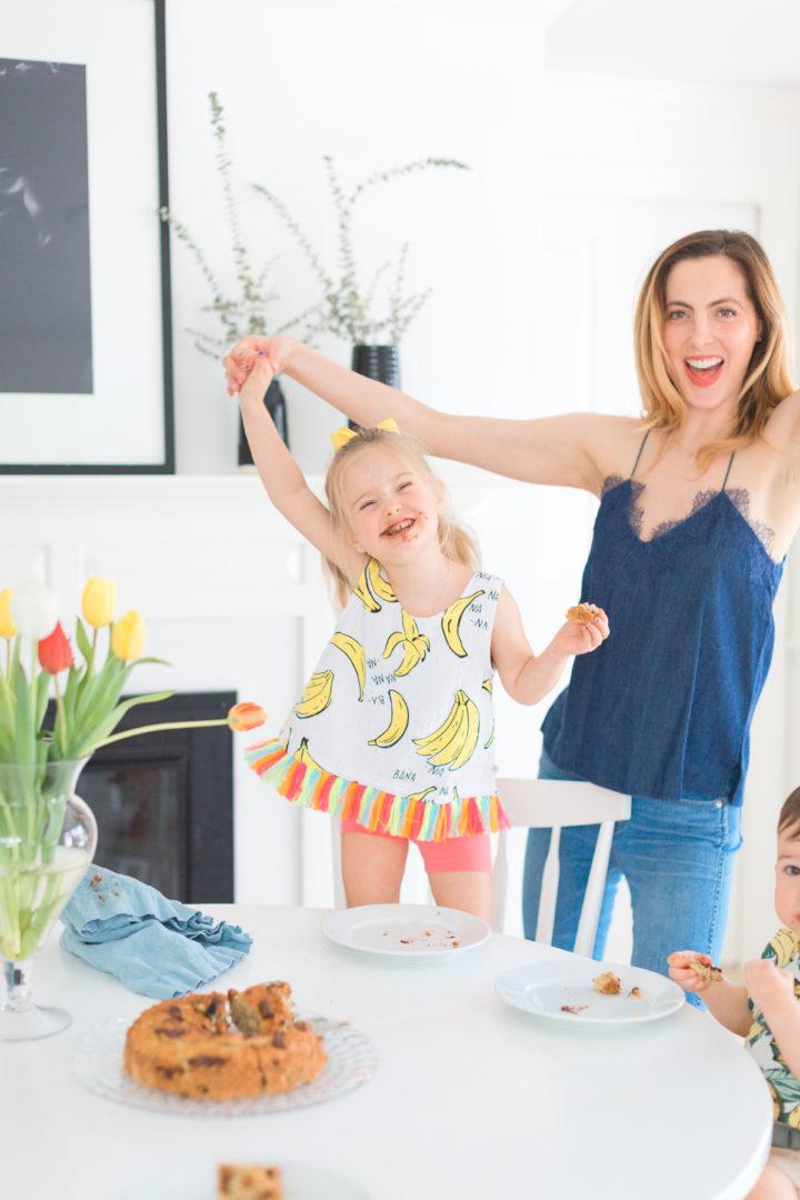 Eva Amurri Martino serves her kids dairy free banana bread