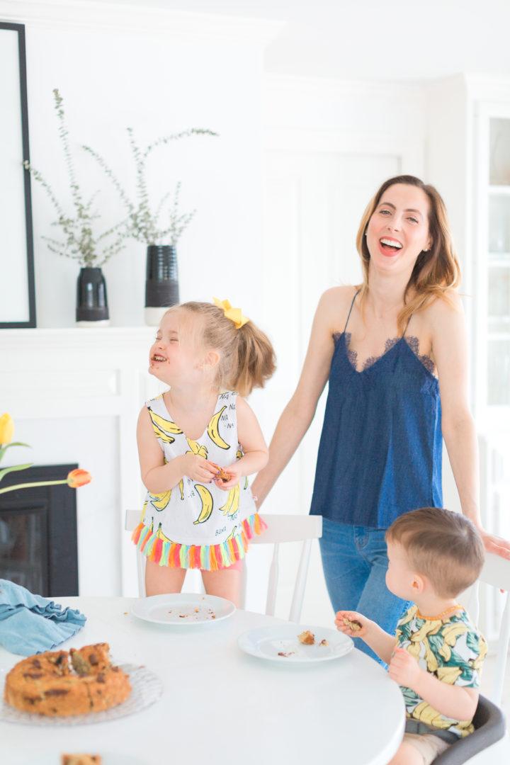 Eva Amurri Martino laughs with her kids