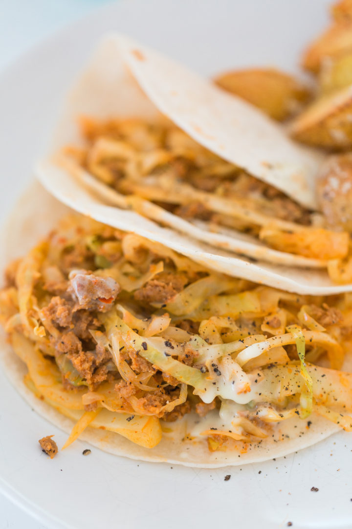 Eva Amurri Martino makes Blue Apron Chorizo Tacos.