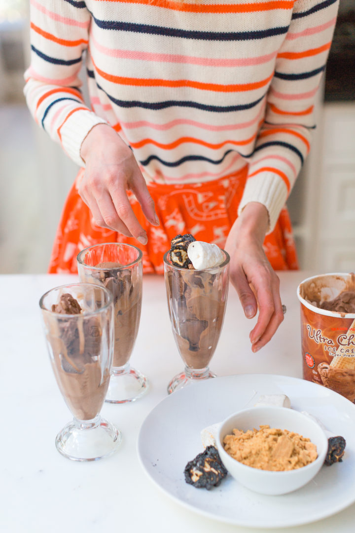 Eva Amurri Martino prepares to make Smores Sundaes at her Connecticut home