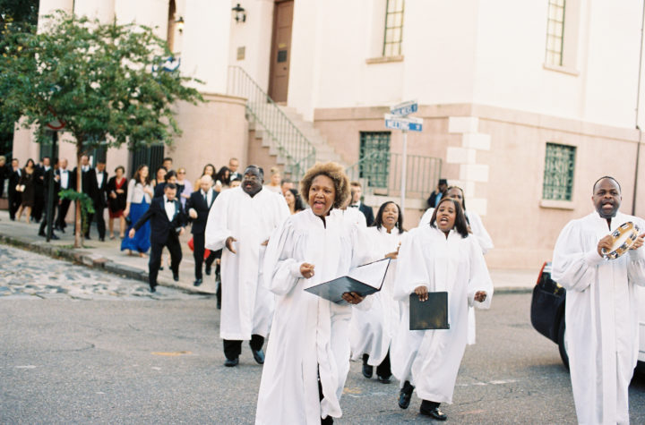 The Gospel Choir at Eva Amurri Martino's Charleston wedding