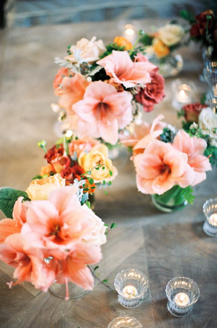 Floral arrangements at Eva Amurri Martino's Charleston wedding