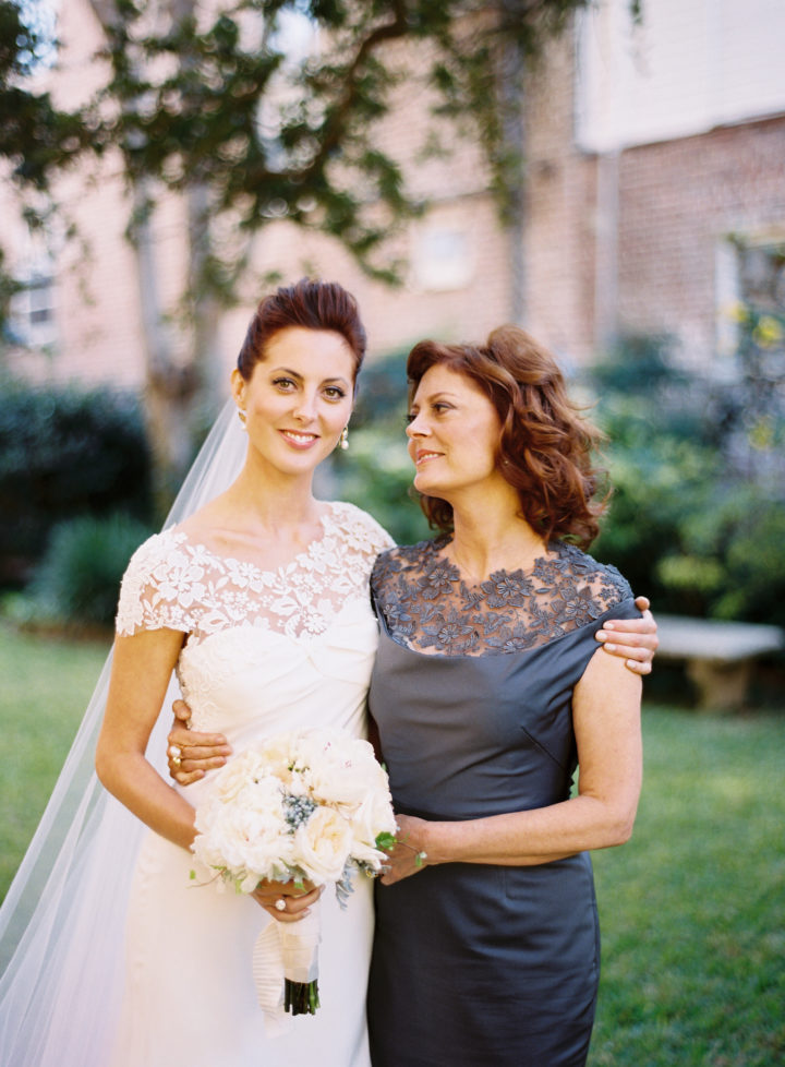 Eva Amurri and her mother Susan Sarandon at her Charleston wedding to Kyle Martino