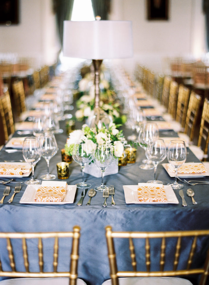 A tablescape of the decor at Eva Amurri Martino's Charleston wedding