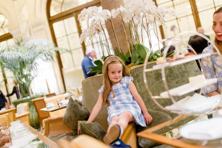 Eva Amurri Martino's daughter Marlowe enjoys high tea at the Plaza Hotel in New York City