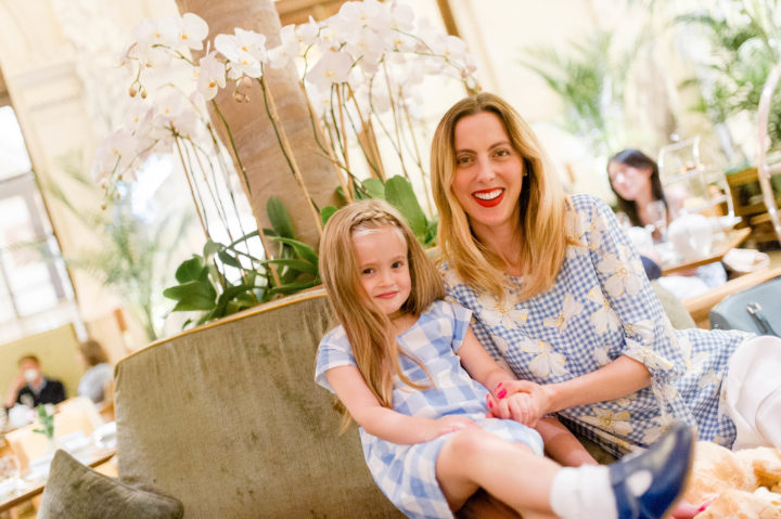 Eva Amurri Martino treats her daughter Marlowe to high tea at the Plaza Hotel in New York City