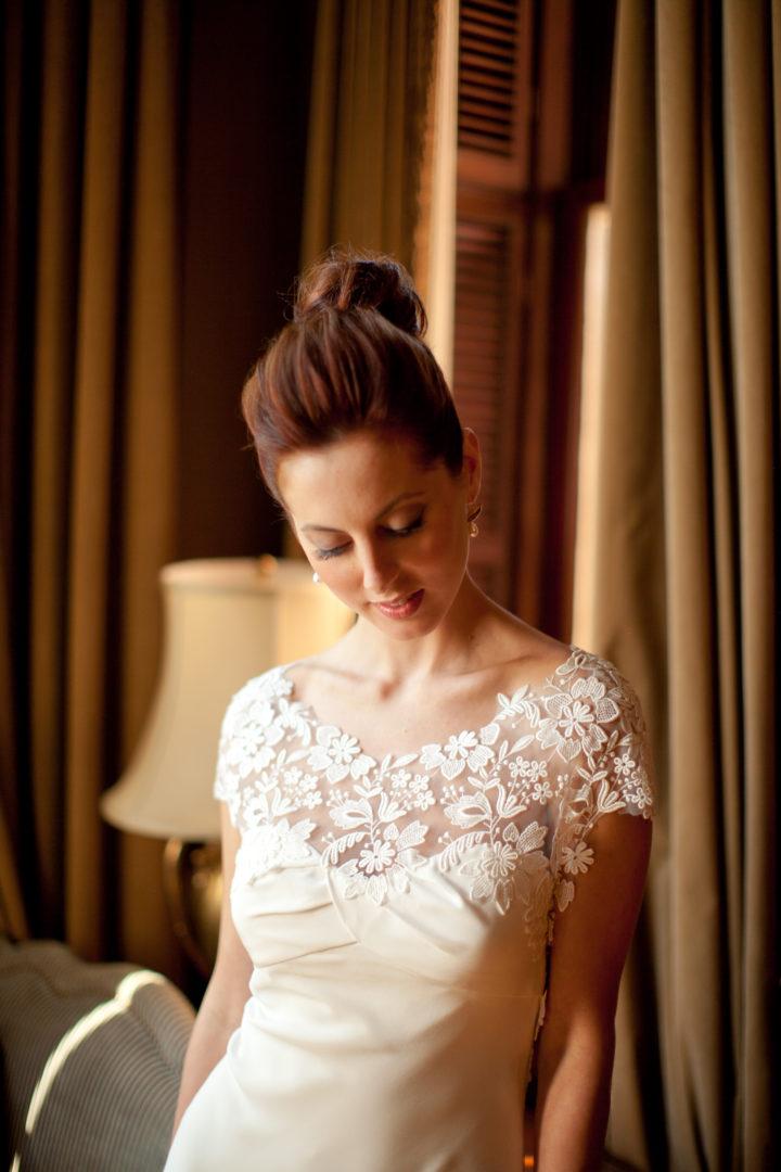 The details on Eva Amurri Martino's ornate Lela Rose dress
