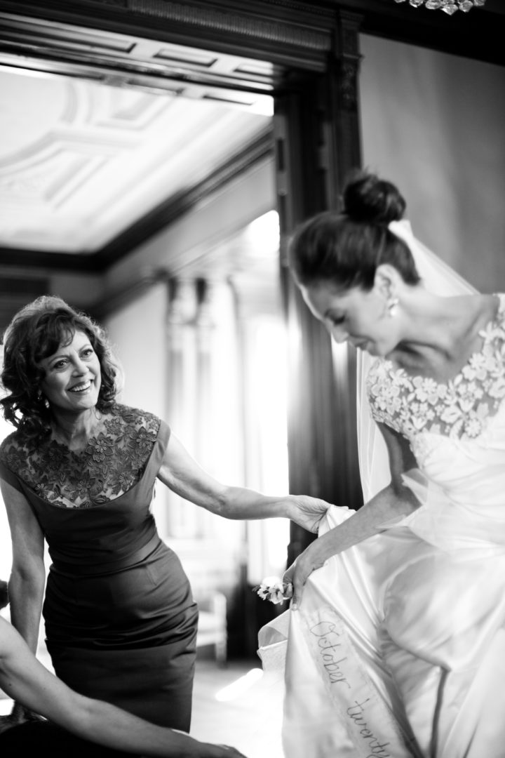 Eva Amurri Martino getting ready for her wedding while mother Susan Sarandon looks on happily.