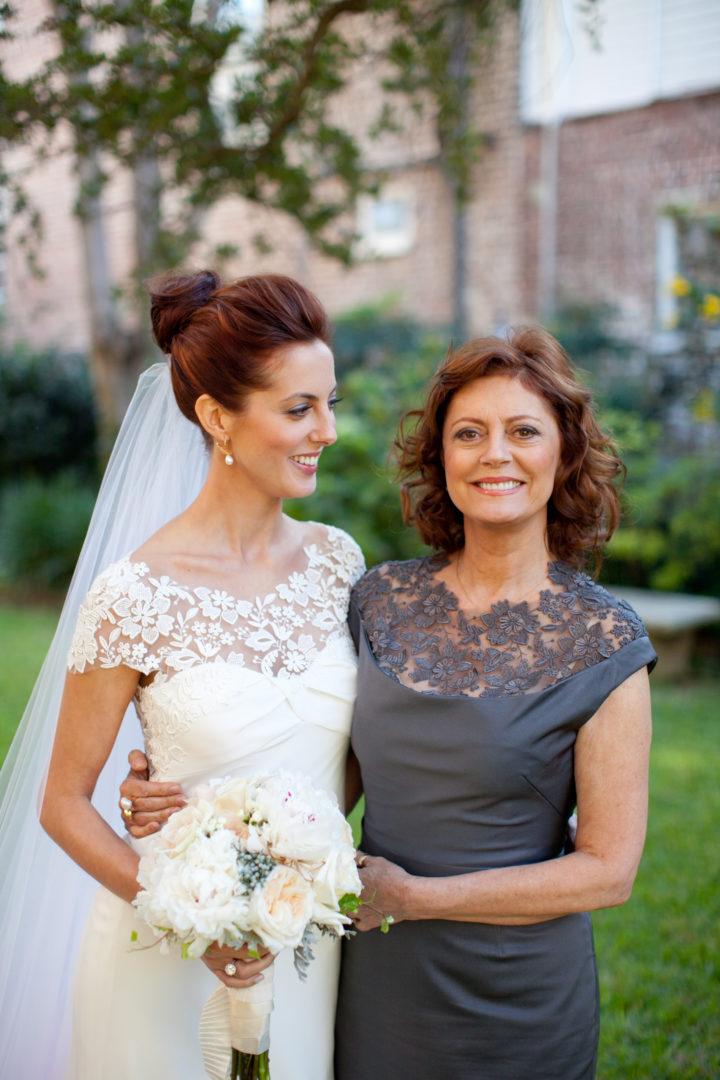 Eva Amurri Martino with her mother Susan Sarandon on her wedding day