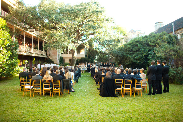 The wide view of Eva Amurri Martino's wedding ceremony.
