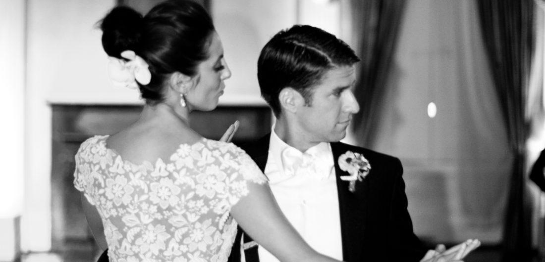 Eva Amurri Martino and her husband Kyle dancing at their wedding in Charleston