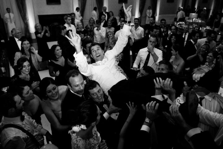 Kyle Martino getting lifted in the air at his wedding to Eva Amurri
