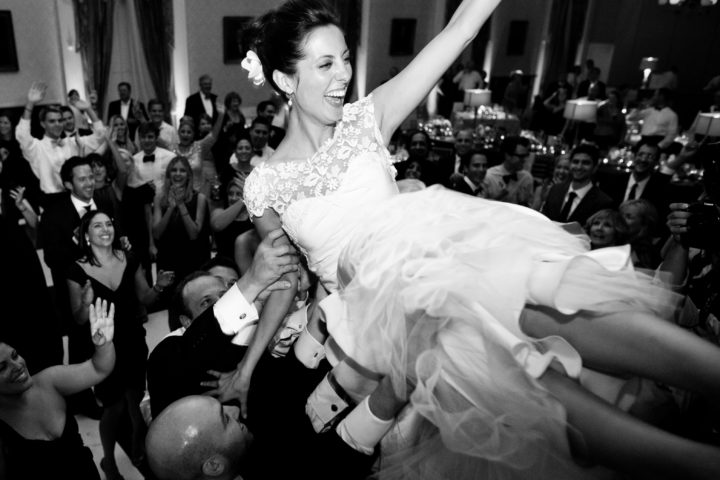 Eva Amurri Martino gets lifted in the air at her Charleston wedding.