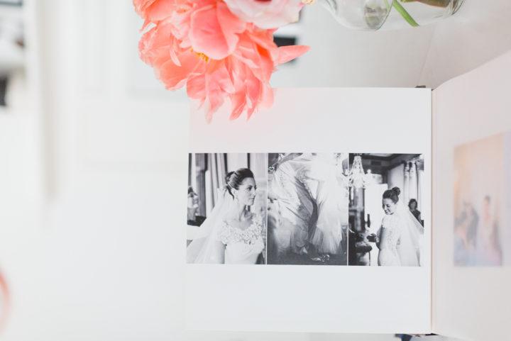 A close up of Eva Amurri Martino's wedding album