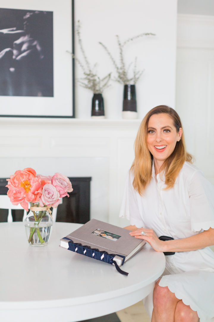 Eva Amurri Martino looks through her wedding photos