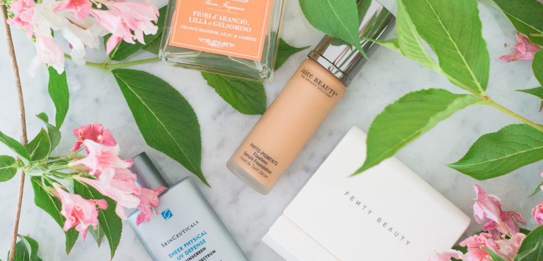 Eva Amurri Martino shares a roundup of her favorite beauty and home products for june, including a room spray, a sunscreen, a foundation and a blotting system