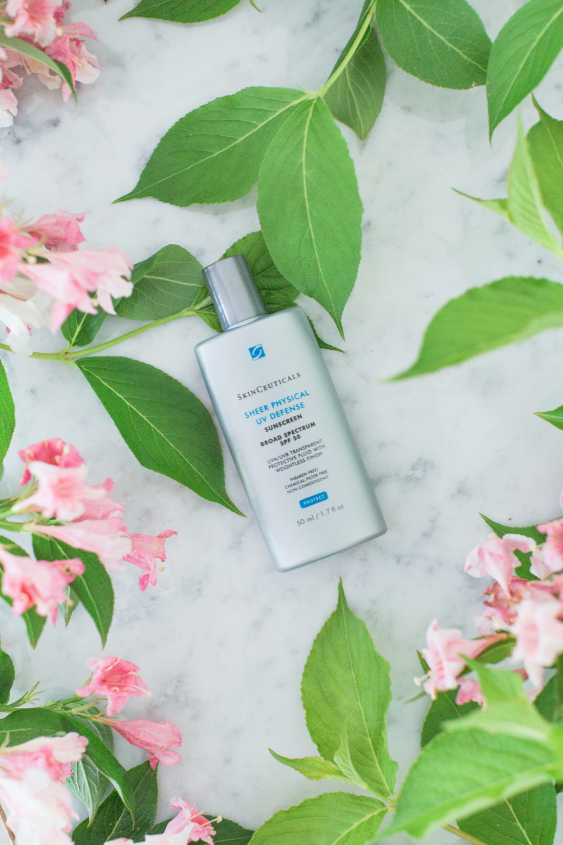 Eva Amurri Martino includes a Skinceuticals UV Defense sunscreen as part of her monthly obsessions roundup