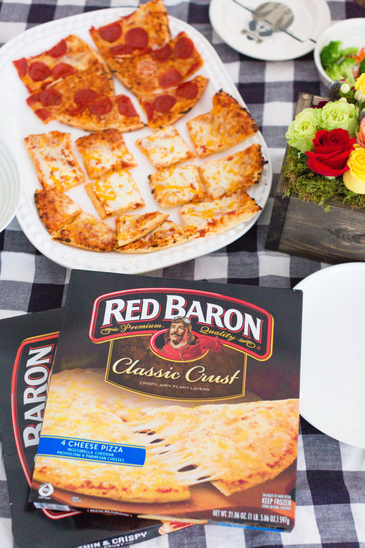 A Red Baron pizzascape for dinner