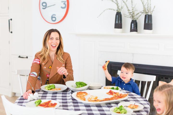 Eva Amurri Martino enjoys pizza night with her kiddos
