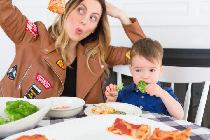 Eva Amurri Martino makes goofy faces next to her son Major