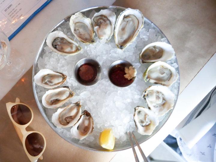 A closeup of Eva Amurri Martino's daughter Marlowe's favorite food: Oysters
