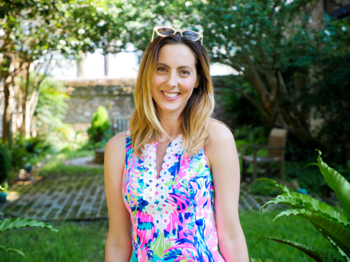 Eva Amurri Martino smiles happily at the site of her 2011 wedding to Kyle Martino in Charleston.