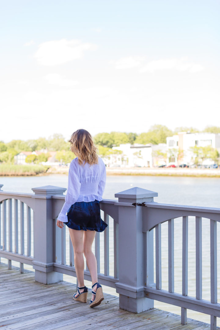 Eva Amurri Martino stands on the Saugatuck river in Westport, CT.