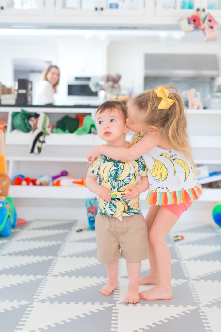 Eva Amurri Martino's daughter Marlowe kisses her brother Major