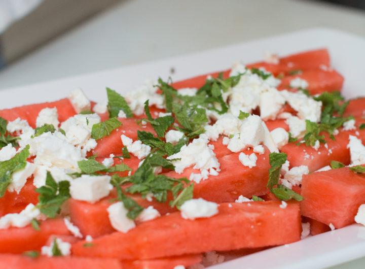 Eva Amurri prepares Watermelon & Feta Salad